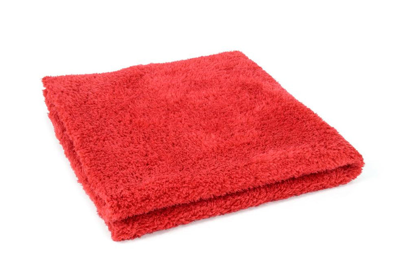 Autofiber Towel Red [Korean Plush 350] Microfiber Detailing Towel (16 in. x 16 in., 350 gsm) 10 pack BULK BUNDLE
