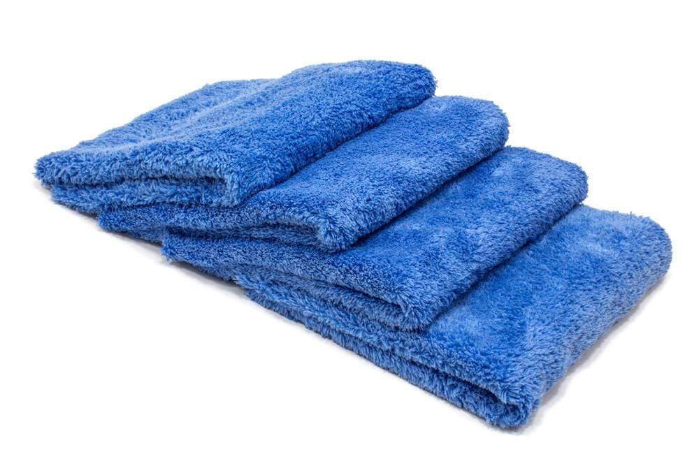 Autofiber Towel Blue [Korean Plush 470] Edgeless Detailing Towels (16 in. x 16 in. 470 gsm) 4 pack