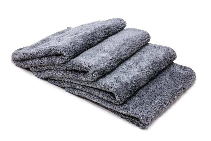 Autofiber Towel Grey [Korean Plush 470] Edgeless Detailing Towels (16 in. x 16 in. 470 gsm) 4 pack