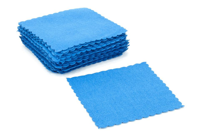 Autofiber Towel Blue [Suede Swatch] Microfiber Coating Application Cloth (4 in. x 4 in.) - 50 pack