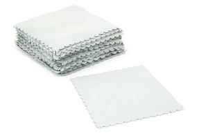Autofiber Towel Gray [Suede Swatch] Microfiber Coating Application Cloth (4 in. x 4 in.) - 50 pack