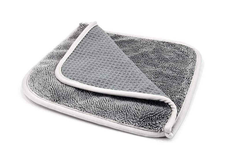 Autofiber Towel [Double Glass Flip] Waffle & Twist Microfiber Window Towels (8 in. x 8 in., 500/400 gsm) 3 pack