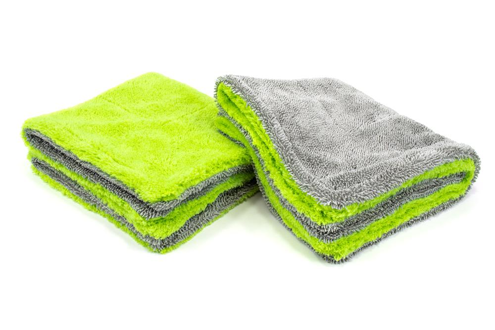 Autofiber Towel Green Amphibian Jr. - Microfiber Drying Towel (16 in. x 16 in., 1100gsm) - 2 pack