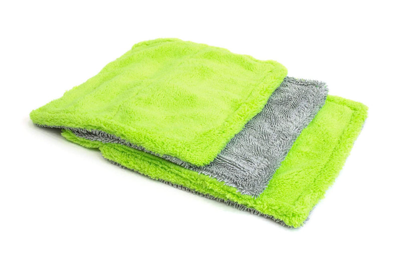 Autofiber Towel Green Amphibian Mini - Microfiber Glass Towel (8 in. x 8 in., 1100gsm) - 3 pack