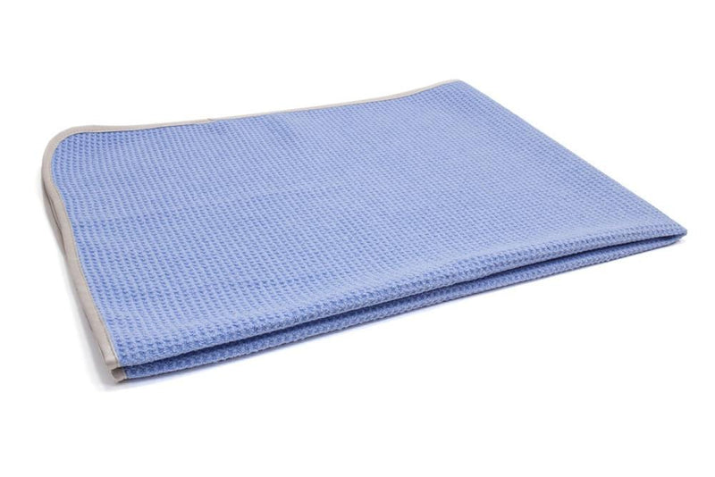 Autofiber Towel Light Blue [Big Thirsty] Waffle Weave Drying Towel with MicroEdge (25 in. x 36 in., 400gsm) 1 pack
