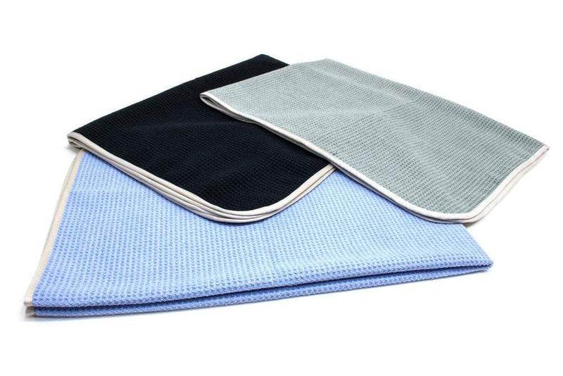 Autofiber Towel [Big Thirsty] Waffle Weave Drying Towel with MicroEdge (25 in. x 36 in., 400gsm) 1 pack