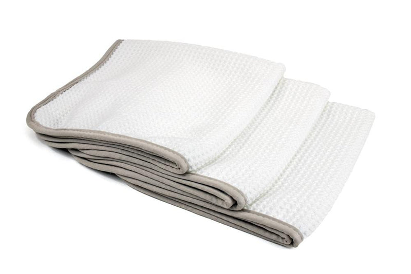 Autofiber Towel White [No Streak Freak] Microfiber Waffle-Weave Glass Towel (16 in. x 16 in. 400 gsm) 3 pack