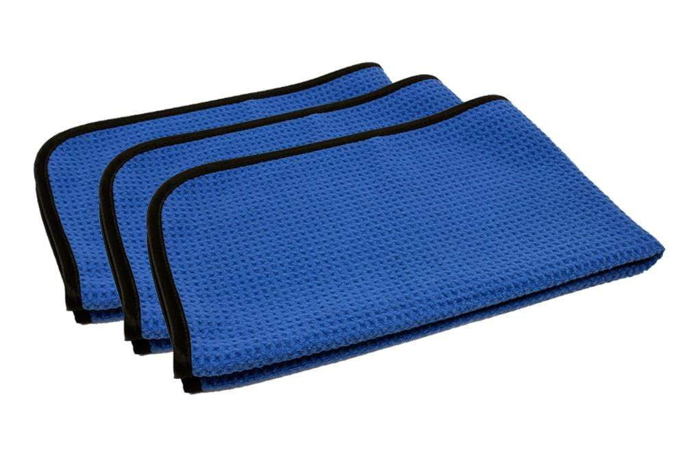Autofiber Towels [Korean Waffle] Ultra Soft Microfiber Waffle Weave Drying & Glass Towel (16 in. x 24 in., 460 gsm) 3 pack