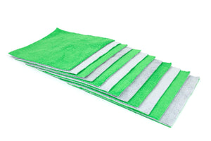 Autofiber Green [Saver Sheet] Coating Applicator Towel with Barrier Layer (8 in. x 8 in.) - 12 pack