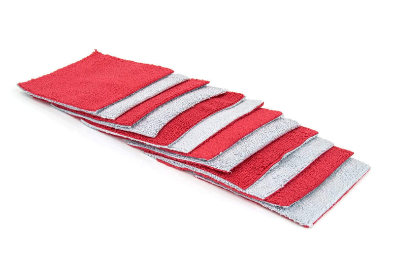 Autofiber Red [Saver Sheet] Coating Applicator Cloth with Barrier Layer (4 in. x 4 in.) - 12 pack