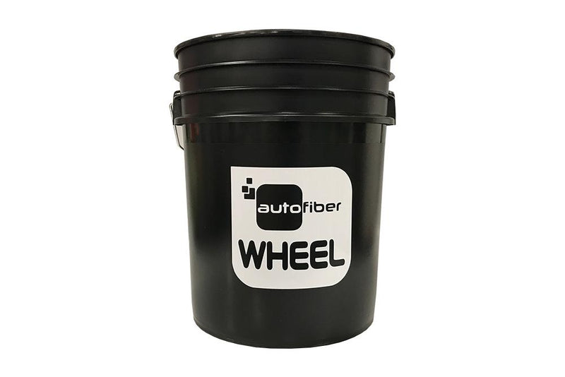 [WHEEL BUCKET] 5 Gallon Black with Autofiber Vinyl