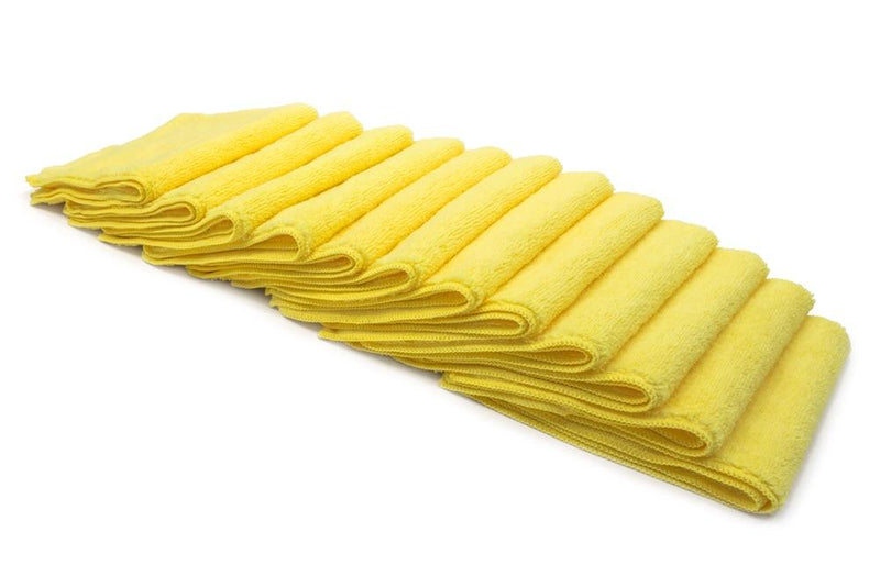Autofiber Towel Yellow [Cost What!] Microfiber Shop Rag (16 in. x 16 in.) - 10 pack