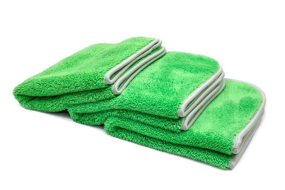 Autofiber [Leprechaun] Double Plush Microfiber Final Wipe Towel (16 in. x 16 in., 600gsm) - 3 pack