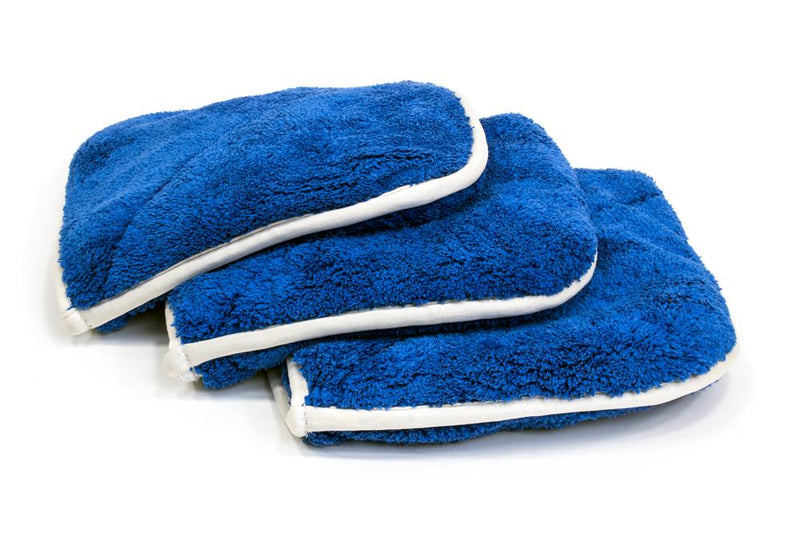 Autofiber Towel Blue [Double Flip] Rinseless Car Wash Microfiber Towel (8 in. x 8 in., 1100 gsm) 3 pack