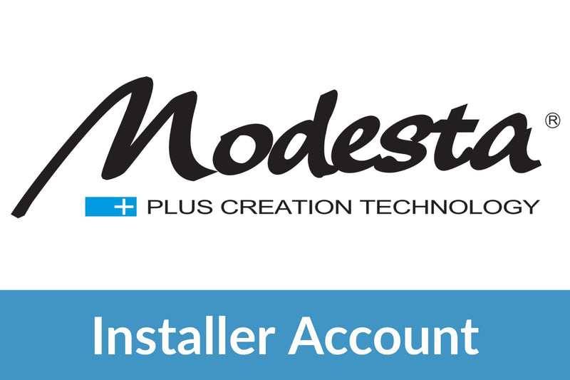 Modesta Installer Wholesale Account