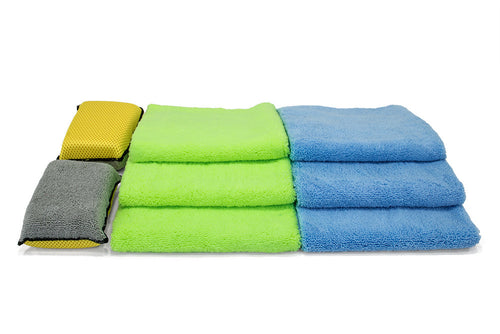 [Interior Kit] Microfiber Towel and Sponge Detailing Kit