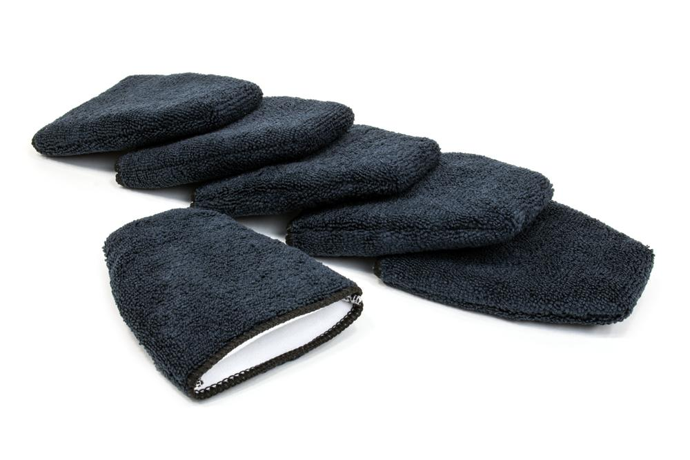 Autofiber Mitt Black [Finger Applicator] Microfiber Fingertip Mitt Applicator (5 in. x 4 in.) 6 pack