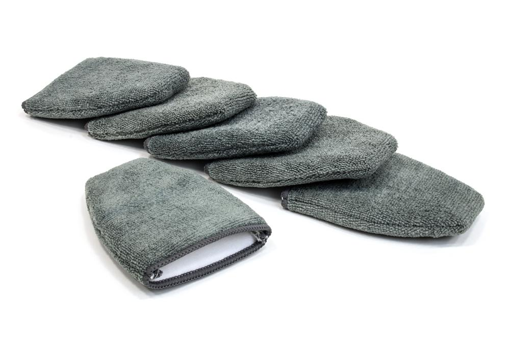 Autofiber Mitt Gray [Finger Applicator] Microfiber Fingertip Mitt Applicator (5 in. x 4 in.) 6 pack