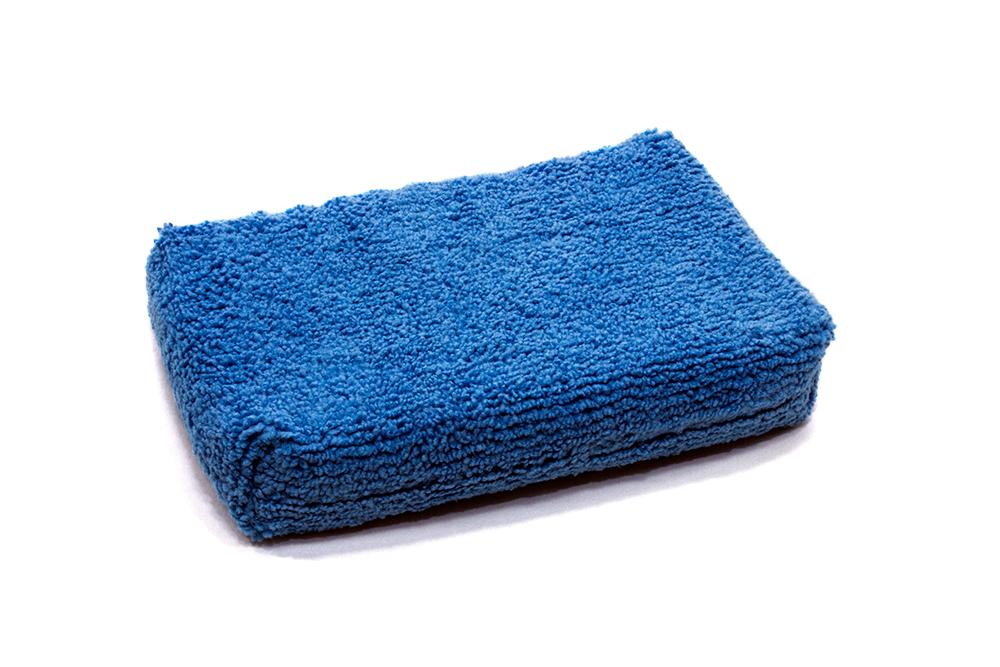 Autofiber Sponge Blue [Block Sponge Skinny] Thin Microfiber Applicator Pad (5 in. x 3.5 in. x 0.75 in.) 4 Pack