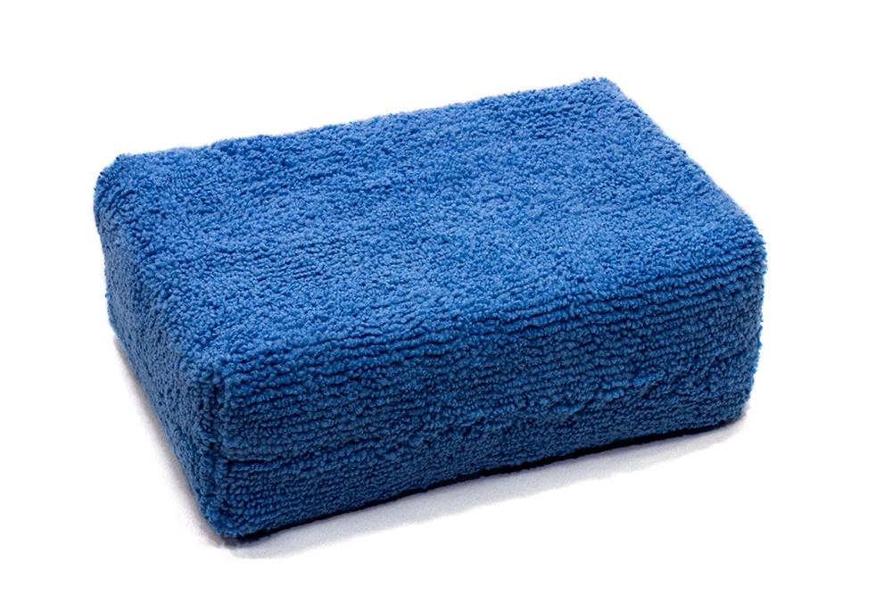 Autofiber Sponge Blue [Block Sponge] Microfiber Applicator Pad (5 in. x 3.5 in. x 1.75 in.) 4 Pack