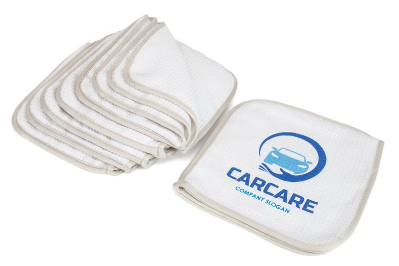 CUSTOM [Glass Flip] Printed Logo Towel - 12 pack