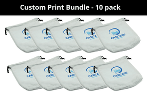 Autofiber Custom Custom Print CUSTOM [Swag Sack] Custom Printed Detail Customer Bags - 10 pack