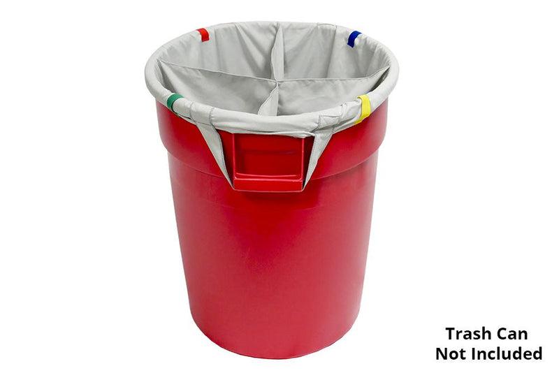 Autofiber Accessory [Dirty Towel Separator] Bag Insert for Standard 32 Gallon Trash Can - 4 sections