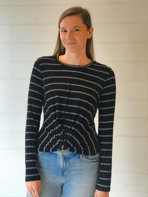 Stripe Twist Top