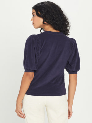 Terry Puff Sleeve Top