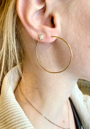 Gold-Filled Thin Hoops