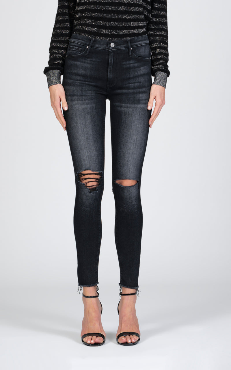 Carmen High Rise Ankle Fray Skinny