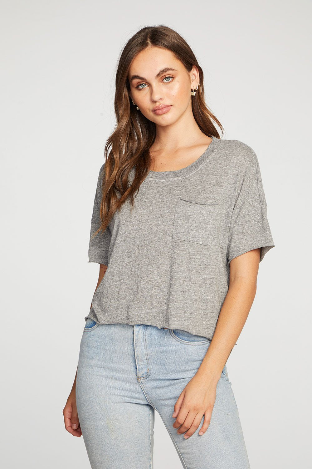 Boxy Cropped Pocket Tee