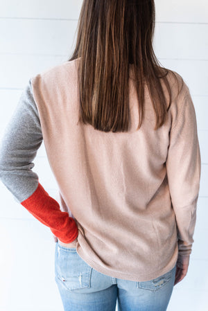 Blush Colorblock Sweater