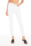 Gwen High Rise Ankle Crop - White Out