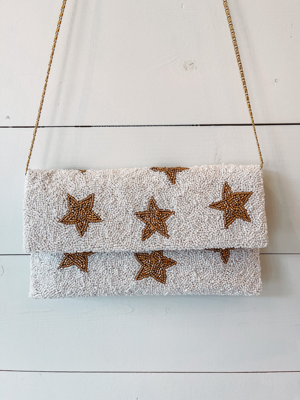 Beaded Star Clutch
