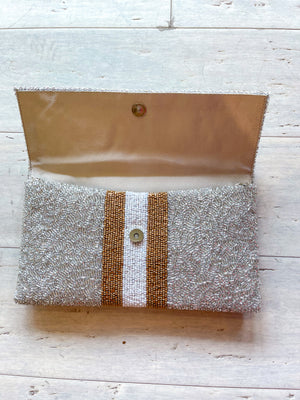 Stripe Bee Clutch