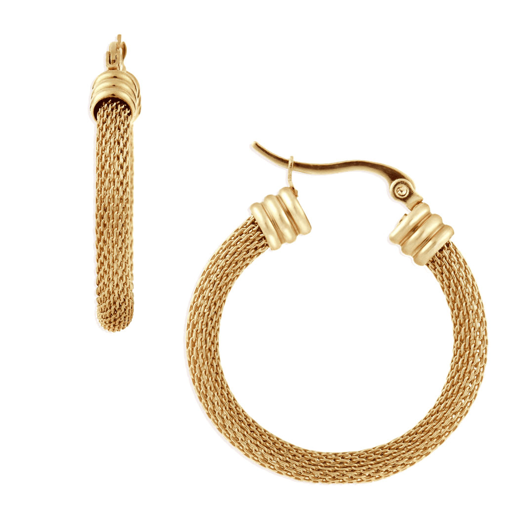 Dex Mesh Medium Hoop Earring