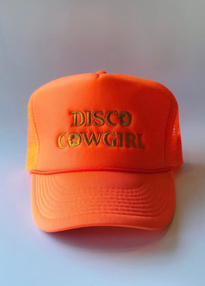 Disco Cowgirl Hat- Vintage Gold on Hot Sun