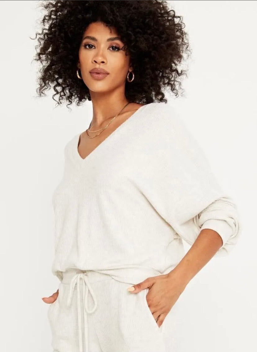 Endless Cozy Rib V Neck