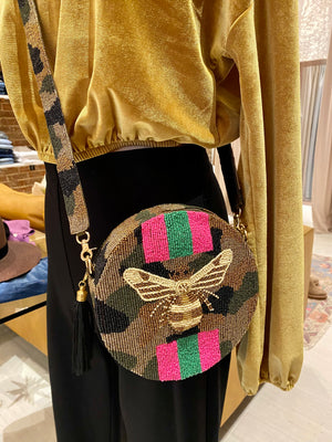 Bee Stripe Crossbody - Gold