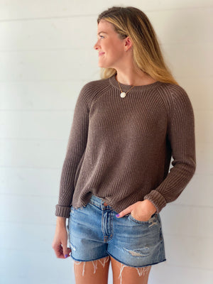 Distressed Scallop Sweater