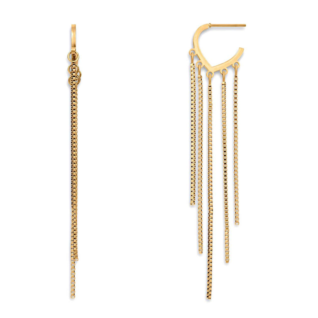 Johanna Box Chain Earring