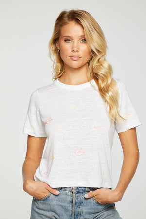 Neon Lip Cropped Tee