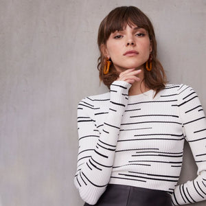 Broken Stripe Top