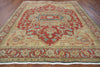 Red & Brown 8 X 11 Serapi Rug - Golden Nile