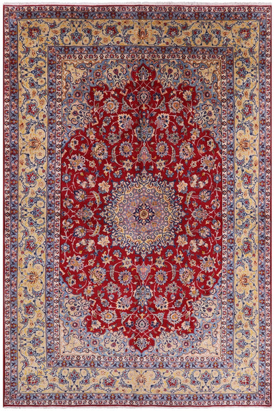 "Fine Isfahan Hand Knotted Rug - 11' 2"" X 17' 1"" - Golden Nile"