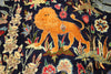 King Of The Jungle Design Authentic Persian Rug 10 X 13 - Golden Nile