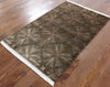 Elegant Brown Tibetan Modern Wool & Silk Area Rug 3 X 5 - Golden Nile