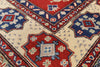 7 X 7 Candy Apple Red Super Kazak Wool Area Rug - Golden Nile