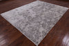 "Modern Art Deco Floral Hand Knotted Wool Rug - 8' X 9' 10"" - Golden Nile"
